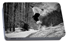 Portable Battery Charger featuring the photograph Getting Air On The Snowboard by David Patterson