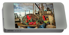 Portable Battery Charger featuring the photograph Crab Rings On Deck by Thom Zehrfeld