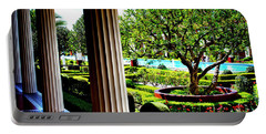 Portable Battery Charger featuring the photograph Getty Villa Peristyle Garden by Joseph Hollingsworth