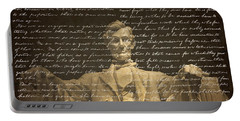 Gettysburg Address Portable Battery Charger by Diane Diederich