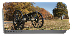 Gettysburg - Cannon In East Cavalry Battlefield Portable Battery Charger