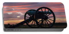 Gettysburg - Cannon On Cemetery Ridge At First Light Portable Battery Charger