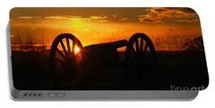 Gettysburg Cannon Sunset Portable Battery Charger