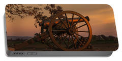 Gettysburg - Cannon With Cannon Balls At Sunrise Portable Battery Charger