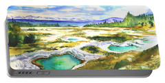 Geyser Basin, Yellowstone Portable Battery Charger