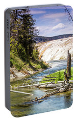 Portable Battery Charger featuring the photograph Geyser Stream by Dawn Romine