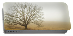Tree In Fog - Blue Ridge Parkway Portable Battery Charger