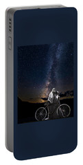 Ghost Rider Under The Milky Way. Portable Battery Charger