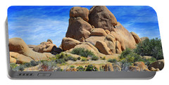 Portable Battery Charger featuring the photograph Ghost Rock - Joshua Tree National Park by Glenn McCarthy Art and Photography
