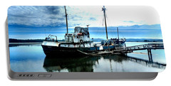 Portable Battery Charger featuring the photograph Ghost Ship Trawler - 2 by Sadie Reneau