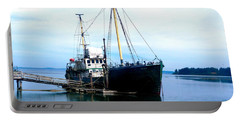 Portable Battery Charger featuring the photograph Ghost Ship - Trawler by Sadie Reneau