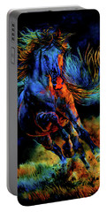 Portable Battery Charger featuring the painting Ghostly Encounter by Hanne Lore Koehler