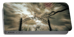 Ghostly Winter Cemetery Portable Battery Charger