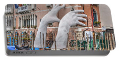 Giant Hands Venice Italy Portable Battery Charger