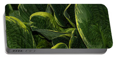 Giant Hosta Closeup Portable Battery Charger