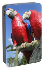Giant Macaws Portable Battery Charger by Randall Weidner
