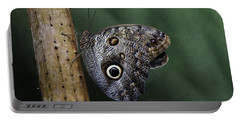 Giant Owl Butterfly On Screw Pine Portable Battery Charger