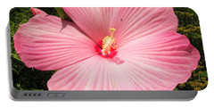 Giant Pink Hibiscus Portable Battery Charger