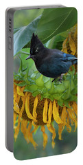 Giant Sunflower With Jay Portable Battery Charger