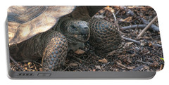 Giant Tortoise At Urbina Bay On Isabela Island  Galapagos Islands Portable Battery Charger