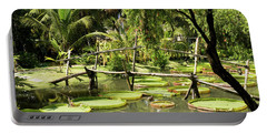 Giant Waterlily Paddies Vietnam Portable Battery Charger