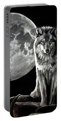 Gibbous Wolf Portable Battery Charger