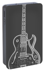 Gibson Es-175 Electric Guitar Tee Portable Battery Charger by Edward Fielding