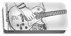Gibson Les Paul Guitar Sketch Portable Battery Charger