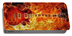 Gibson Les Paul Portable Battery Charger by Taylan Apukovska