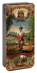 Gift For The Grangers 1873 Victoiran National Grange Agriculture Promotional Art Portable Battery Charger