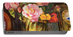 Portable Battery Charger featuring the painting Gift Of Time by Marlene Book