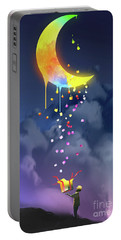 Portable Battery Charger featuring the painting Gifts From The Moon by Tithi Luadthong