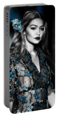 Gigi Hadid Portable Battery Charger by Brian Reaves