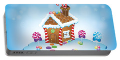 Gingerbread House Christmas Portable Battery Charger