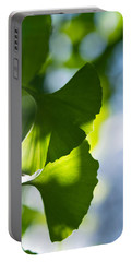 Gingko Leaves In The Sun Portable Battery Charger