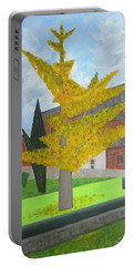 Gingko Tree At St. James Church Portable Battery Charger