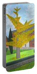 Gingko Tree At St. James Church Portable Battery Charger