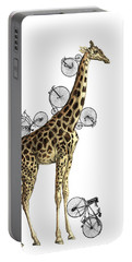 Giraffe And Bicycles Portable Battery Charger