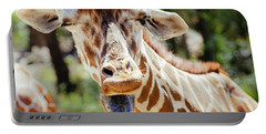 Portable Battery Charger featuring the photograph Giraffe by Andrea Anderegg