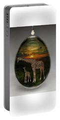 Giraffe Art Portable Battery Charger