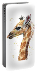 Giraffe Baby Watercolor Portable Battery Charger