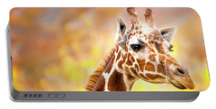 Portable Battery Charger featuring the photograph Giraffe Large Canvas Art, Canvas Print, Large Art, Large Wall Decor, Home Decor, Wall Art by David Millenheft