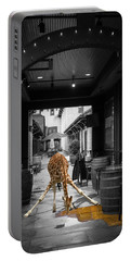 Giraffe Drinking Whiskey Series 4987y Portable Battery Charger