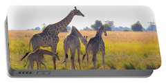 Portable Battery Charger featuring the photograph Giraffe Family by Betty-Anne McDonald