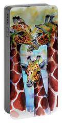 Giraffe Family Portable Battery Charger by Kovacs Anna Brigitta