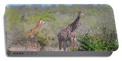 Giraffe Family On Safari Portable Battery Charger by Jeff at JSJ Photography