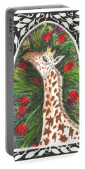 Giraffe In Archway Portable Battery Charger
