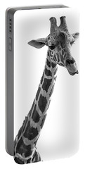 Giraffe In Black And White 3 Portable Battery Charger