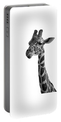 Giraffe In Black And White Portable Battery Charger