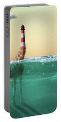 Giraffe Lighthouse Portable Battery Charger by Keshava Shukla